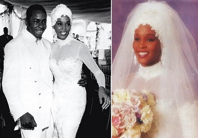 bobby brown high neck wedding gown. Whitney and Bobby\u0027s wedding
