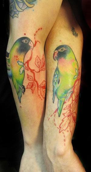 love bird tattoos girls