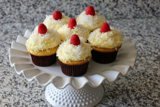 ... and My Pink Mixer: Angel Flake Coconut Cupcakes with Pudding Frosting