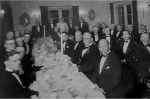 Foto de científicos e investigadores en el banquete en honor a Rife