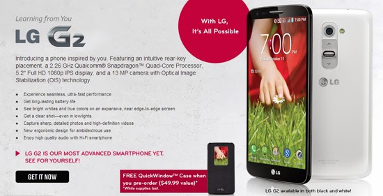Sprint Opens LG G2 Pre-Orders