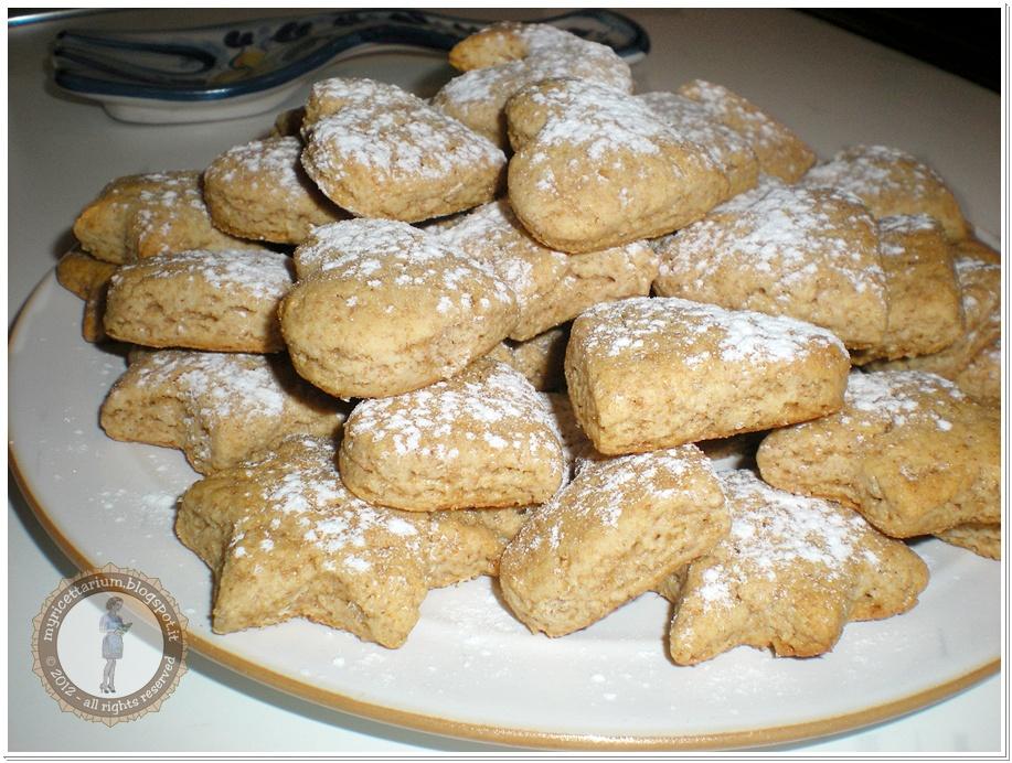 My ricettarium biscotti integrali al miele senza uova e for Compro casa asiago