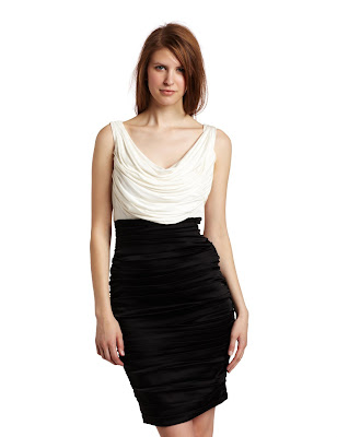 Jax Womens Satin Two Tone Jersey Dress