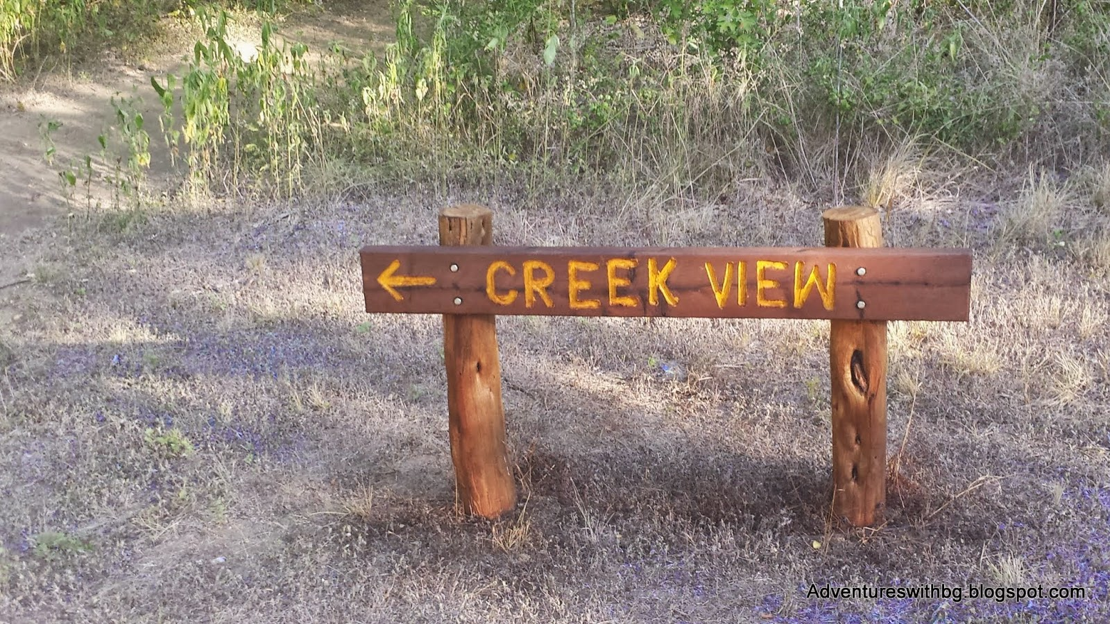 The Creek View Trailhead at lockhart state park