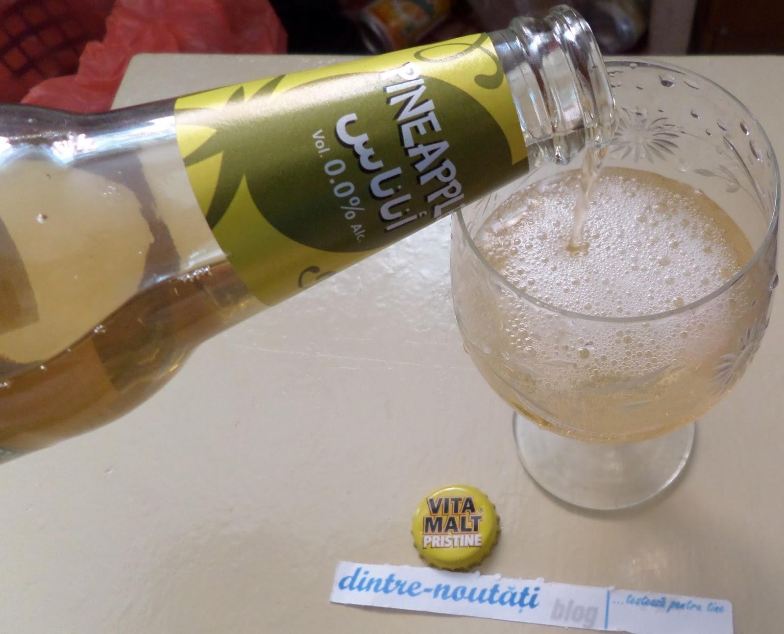 Băutură răcoritoare non-alcoolică pe bază de malț cu aromă de ananas