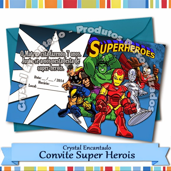 convite super Herois