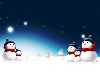 Papel de Parede Bonecos de Neve