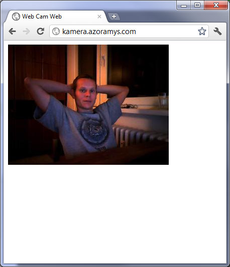 ... that you can start a simple app on your laptop that captures webcam ...