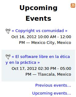 Conferencias de Richard Stallman en México, confedencia fsf méxico