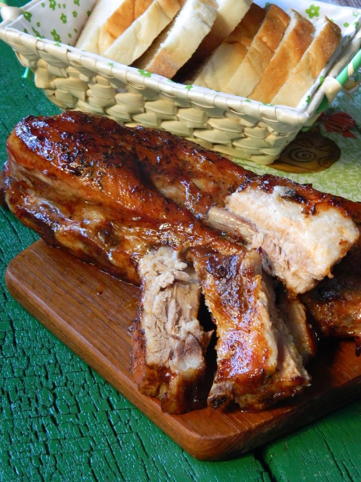 Coaste de porc glazurate