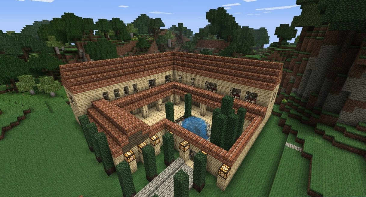 Minecraft building ideas roman villa for House build ideas