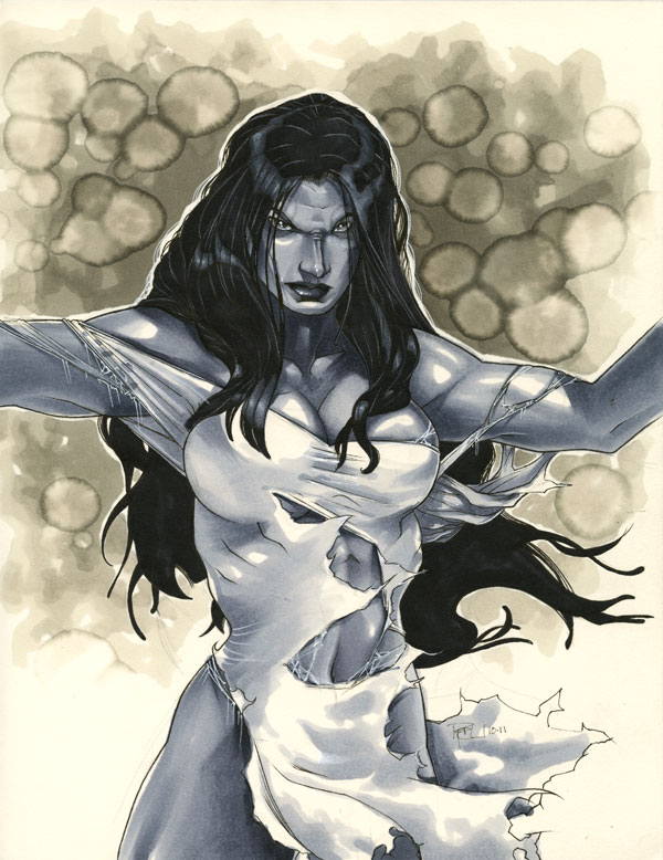 She-Hulk Sketch por kinggoji62