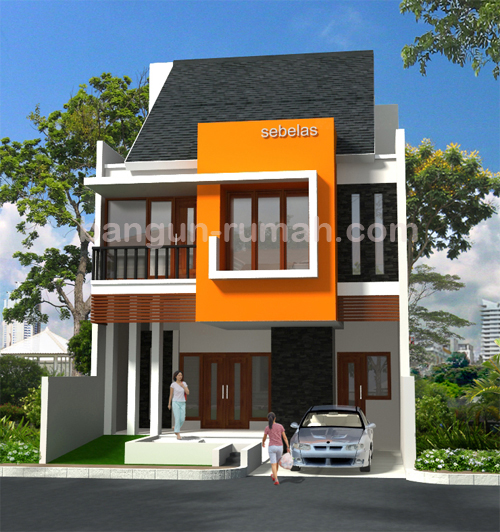 Modern minimalist home gambar rumah for Home front design model