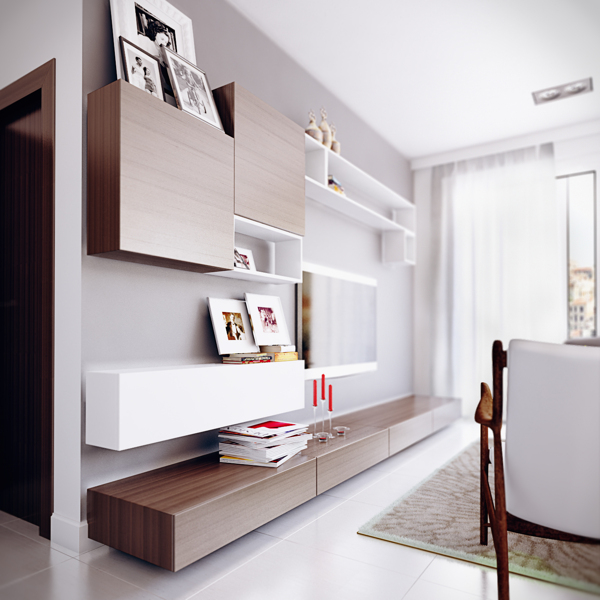 Visualizations Of Modern Apartments That Inspire: Estella Apartment Visualizations