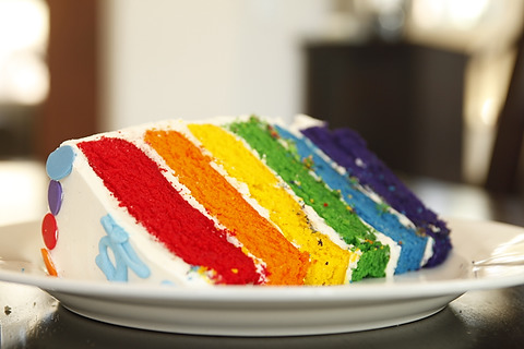 Resep dan cara membuat Rainbow Cake Lembut dan Enak