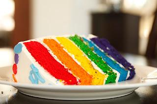 kue rainbow cake lembut