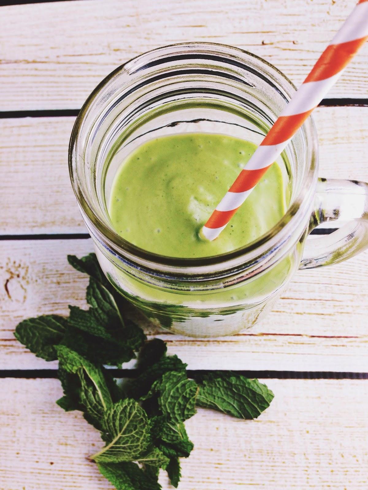paleo minty green smoothie