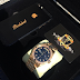 Photo: Davido gets luxury phone to match his Rolex gold watch