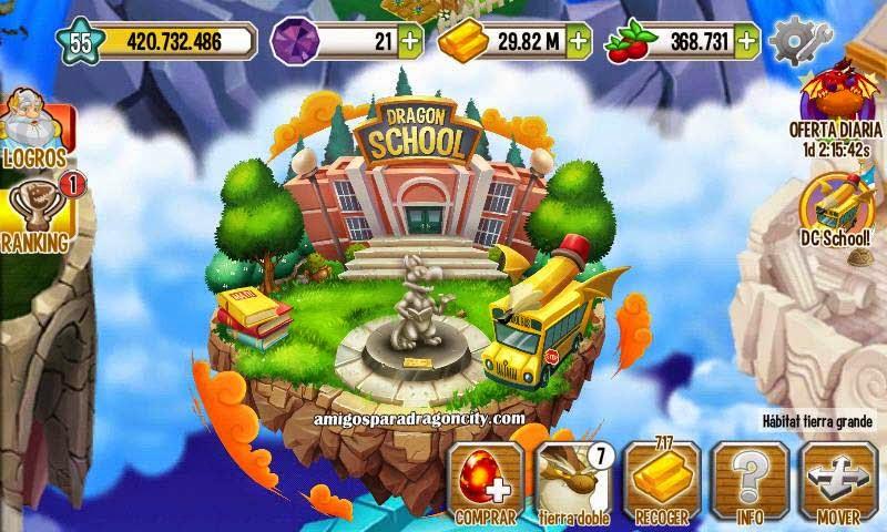imagen de la escuela dragon city mobile