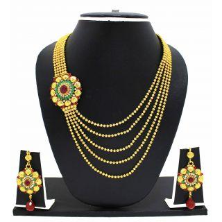 Buy Zaveri Pearls Nacklace Set online