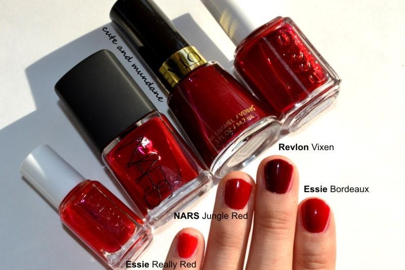 Cute and Mundane: NARS Jungle Red nail polish review