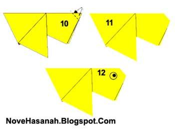 Cara Membuat Origami Ikan Mas Koki untuk anak-anak. Sangat mudah sekali.