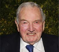 David Rockefeller tras su 6º trasplante de corazón en 38 años.