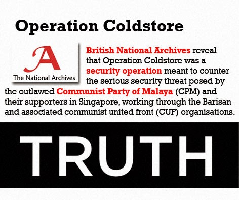 Operation Coldstore Poh Soo Kai Truth