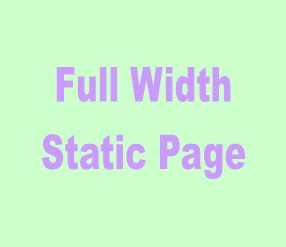 Full width satatic page blogger