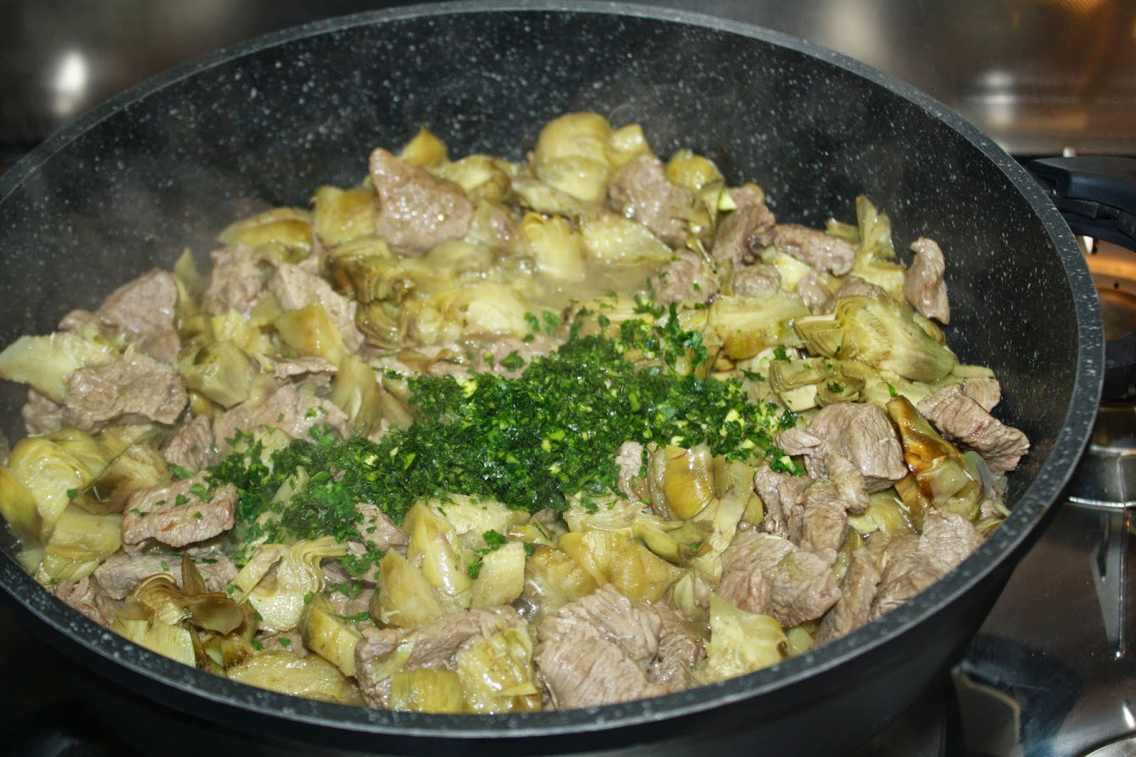 carne carciofi