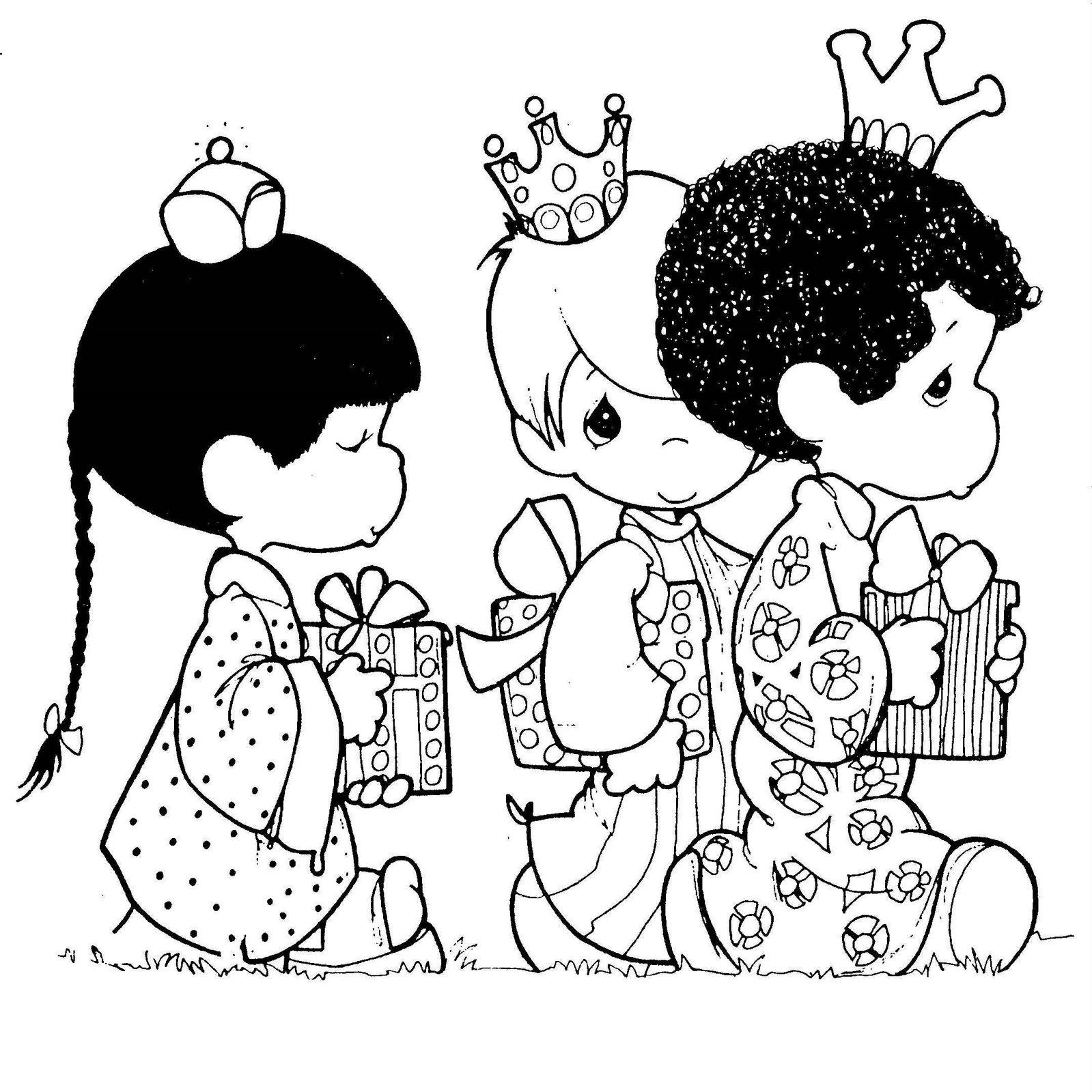 Dibujos y Plantillas para imprimir: Reyes Magos