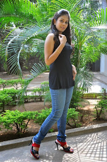 Actress Chandni Pictures in Jeans at Kaali Charan Movie Interview  0059.jpg
