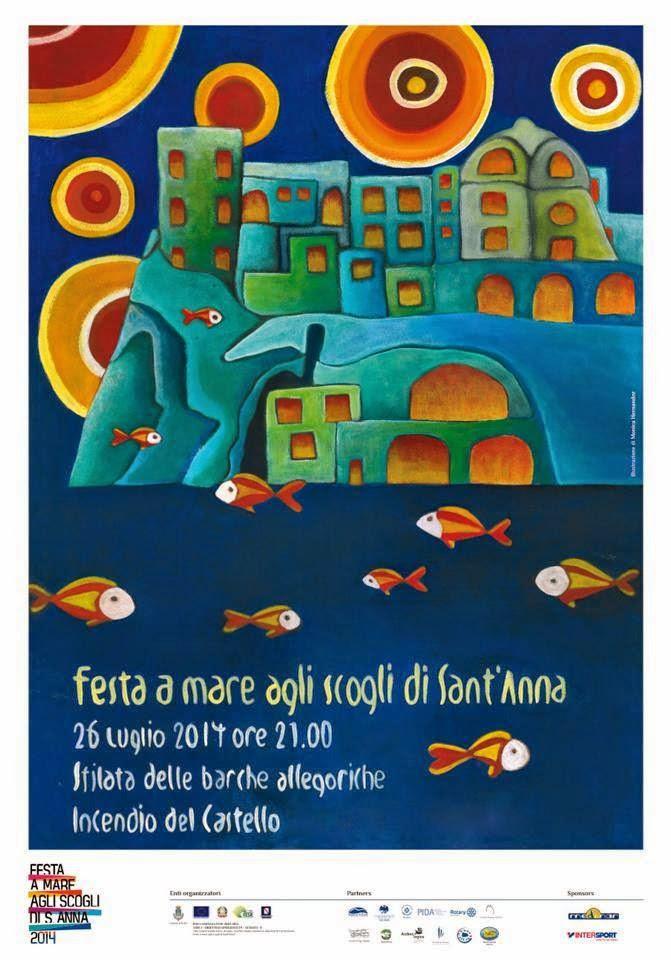 Locandina Festa di Sant'Anna Ischia 2014