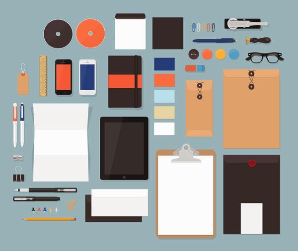 Download Branding Stationery Mockup Gratis - FLAT MOCKUPS BY GRAPHICBURGER