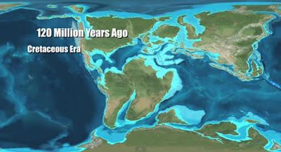 Paleo mapa del Cretáceo