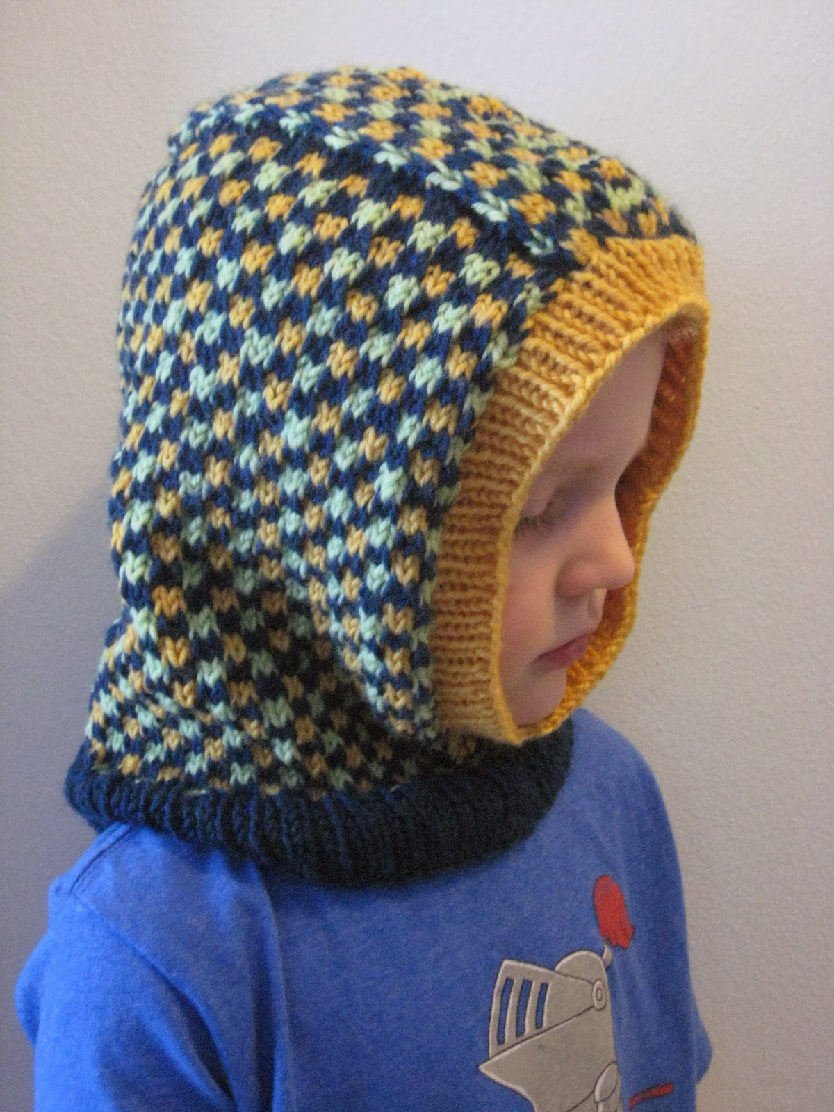 Balls to the Walls Knits: Kids Dice Check Balaclava