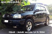 dijual, suzuki, escudo 1.6, tahun 2004, warna, hitam