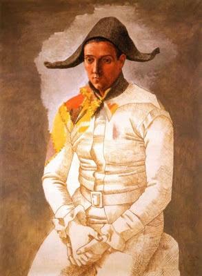 Arlequín sentado (El pintor Jacinto Salvado) de Picasso