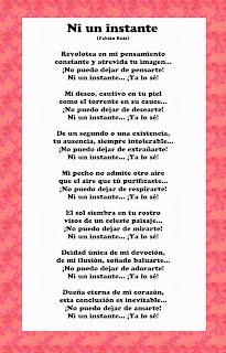 poema de amor ni un instante