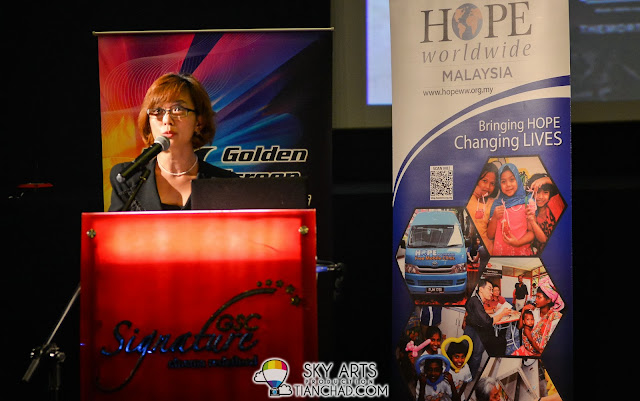 Ms Koh Mei Lee (GSC Chief Executive Officer) @ GSC-HOPE worldwide Malaysia 2013 Donation Drive