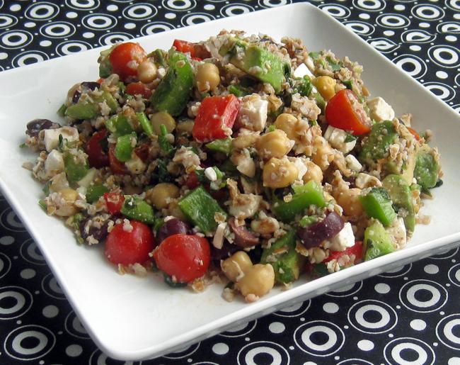 Recipe 293 bulghur salad with walnuts fresh vegetables herbs