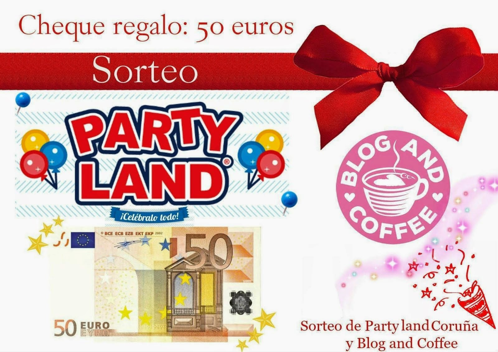 Sorteo★Cheque regalo de 50 euros de Party Land Coruña★