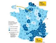 coupures d'électricité en France carte RTE coupures