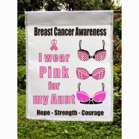i wear pink custom garden flag