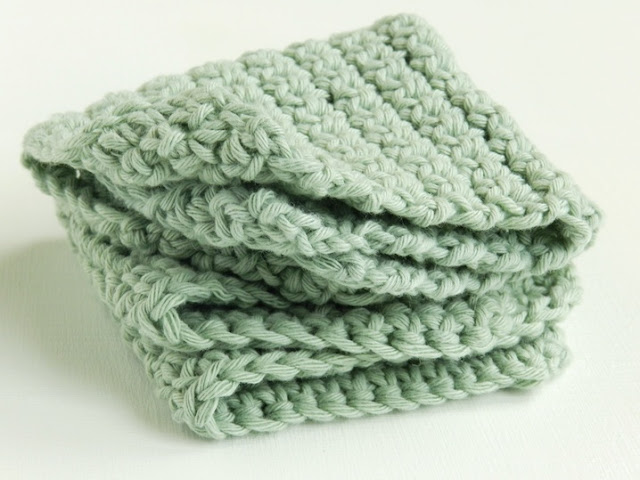 Green Crochet Washcloth