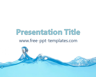 free powerpoint templates water  free powerpoint templates, Templates