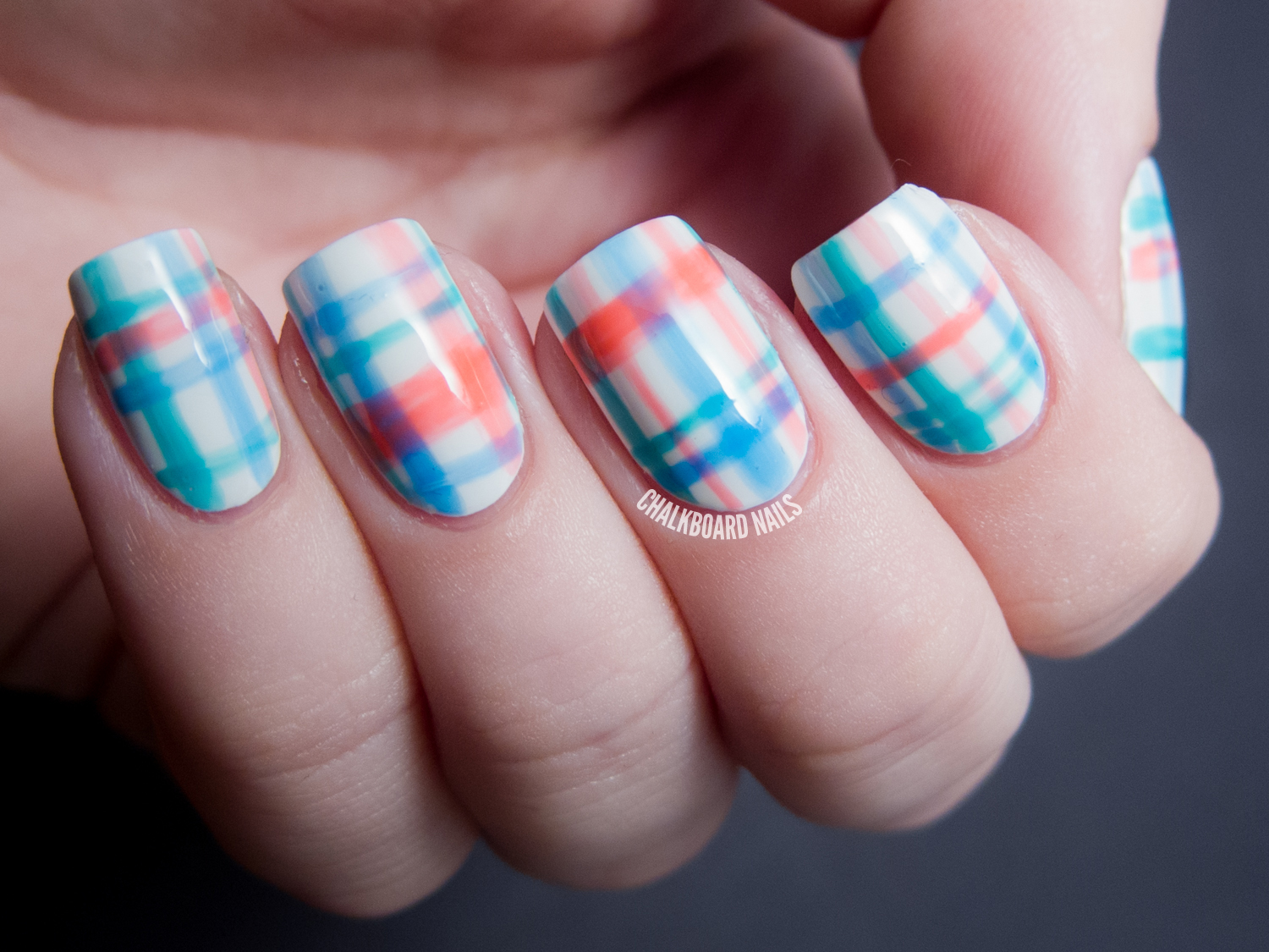 Pretty in plaid china glaze sunsational nail art chalkboard press sample prinsesfo Choice Image