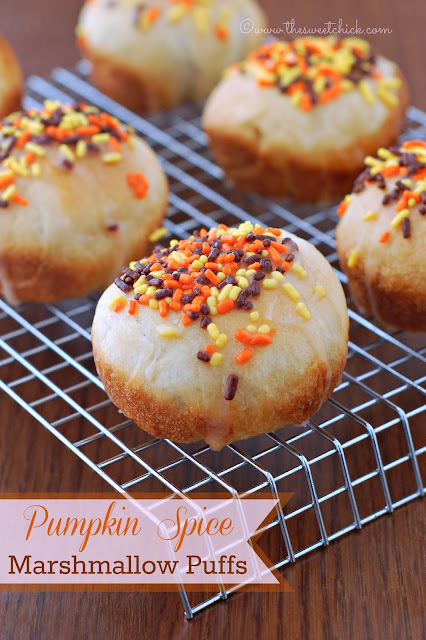 Pumpkin Spice Marshmallow Puffs by The Sweet Chick