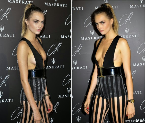 Cara Delevingne Black Party in Paris
