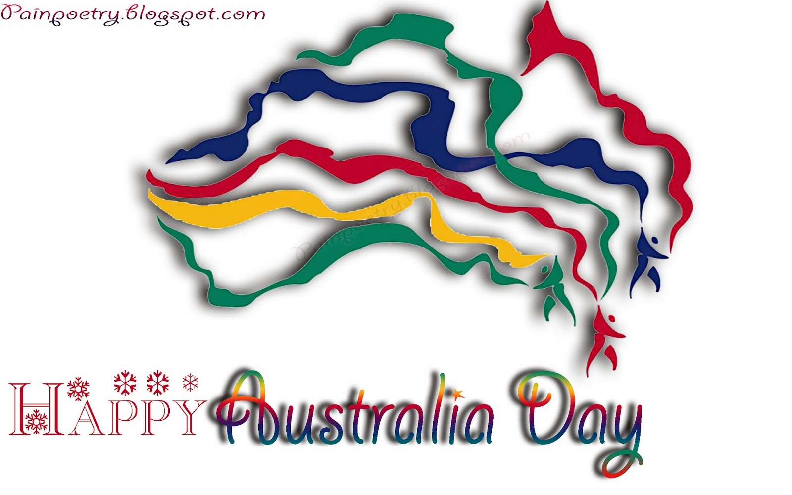 Happy-Australia-Day-Wishes-With-Map-Walpaper-Of-Australia-Map-Walpaper-HD